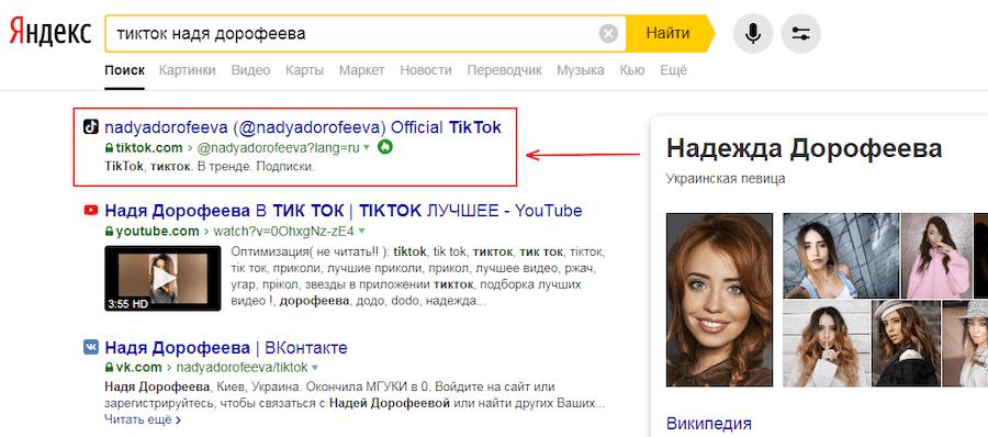 Поиск ТикТок блогеров