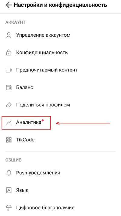 Аналитика ТикТок